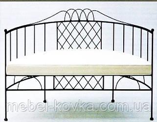 Кований диван з дугоподібною спинкою для відвідувачів 12(з м'яким сидінням)