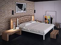 Кровать двуспальная металлическая Карисса кованая Tenero. Ліжко двоспальне металеве коване