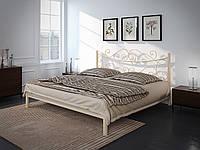 Кровать двуспальная металлическая Азалия кованая Tenero. Ліжко двоспальне металеве коване