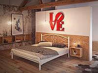 Кровать двуспальная металлическая Камелия кованая Tenero. Ліжко двоспальне металеве коване