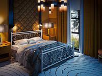 Кровать двуспальная металлическая Монстера кованая Tenero. Ліжко двоспальне металеве коване