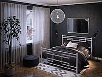 Кровать двуспальная металлическая Фавор кованая Tenero. Ліжко двоспальне металеве коване