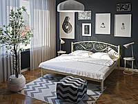 Кровать двуспальная металлическая Лилия кованая Tenero. Ліжко двоспальне металеве коване