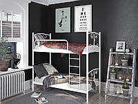 "Кровать металлическая двухъярусная ""Жасмин"". Ліжко двоярусне металева"