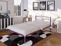Кровать односпальная металлическая Лилия (Мини) Tenero. Ліжко односпальне металеве