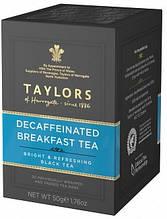 Чай Taylors of Harrogate Decaffeinated Breakfast Tea Bags, 20 пакетиков