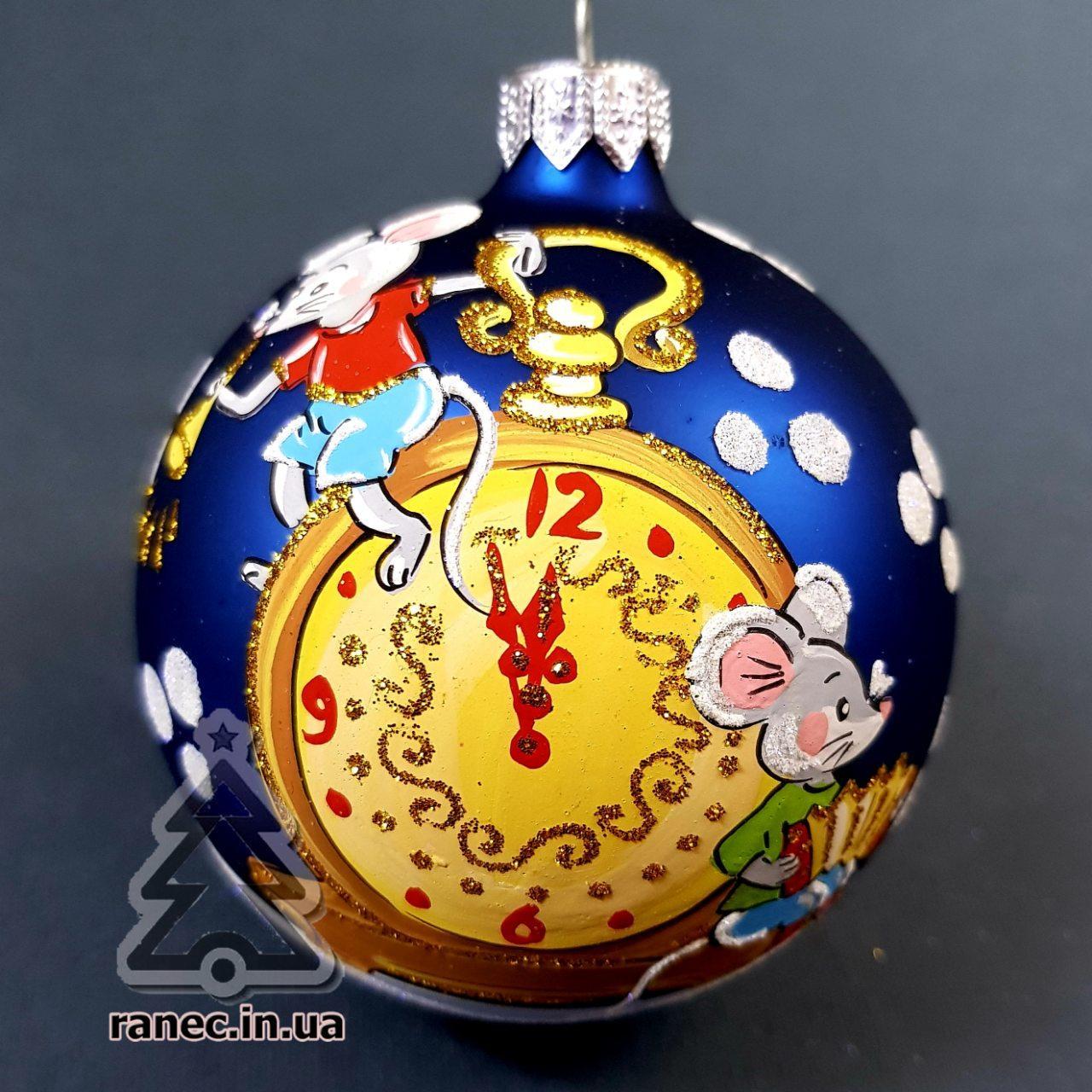 Стеклянный шар на елку Символ года 80443