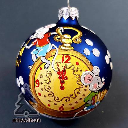 Стеклянный шар на елку Символ года 80443, фото 2