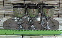 Рюмки бронзовые хром (н-р 6 шт.)