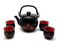 Сервиз керамический (чайник ,4 чашки)(28х17х12)
