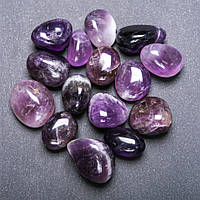 Камень Аметист галтовка d-20мм(+-) фасовка 100грамм