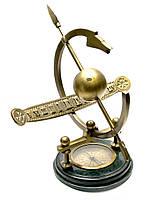 Солнечные часы с компасом и каменной подставкой (34х36х35 см)