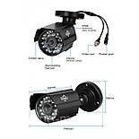 Комплект видеонаблюдения Hiseeu 2ch AHD-1MP 720P Outdoor (2AHBB10), фото 2