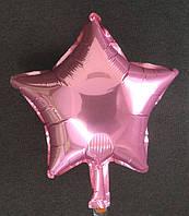 Шар в форме звезды нежно-розовый  10″