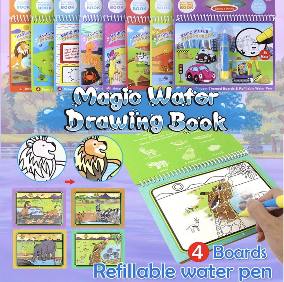 Водная многоразовая раскраска ОРИГИНАЛ Magic water drawing ...