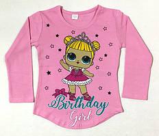 Туничка Куколки Лол розовая на возраст 1- 4 года