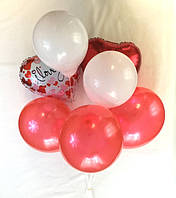 Композиция из 7 шаров с 2 сердцами