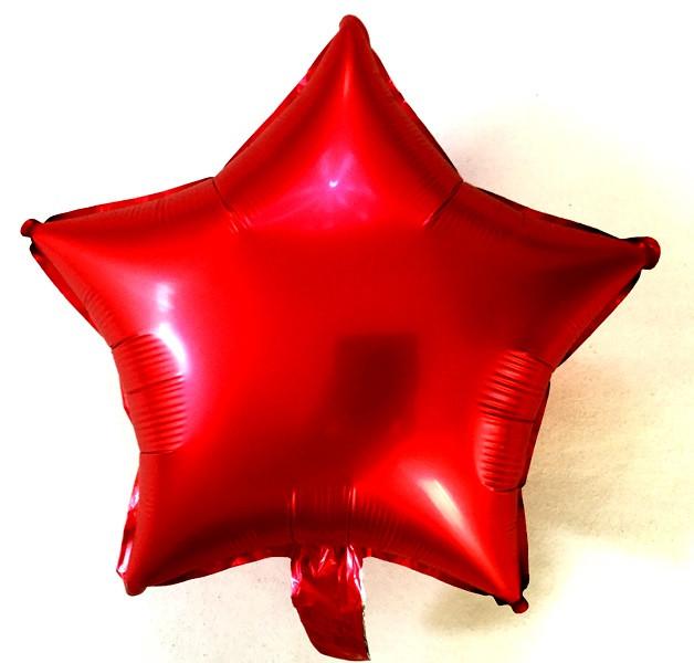 """Шар в форме звезды  сатин """"Красный"""""""