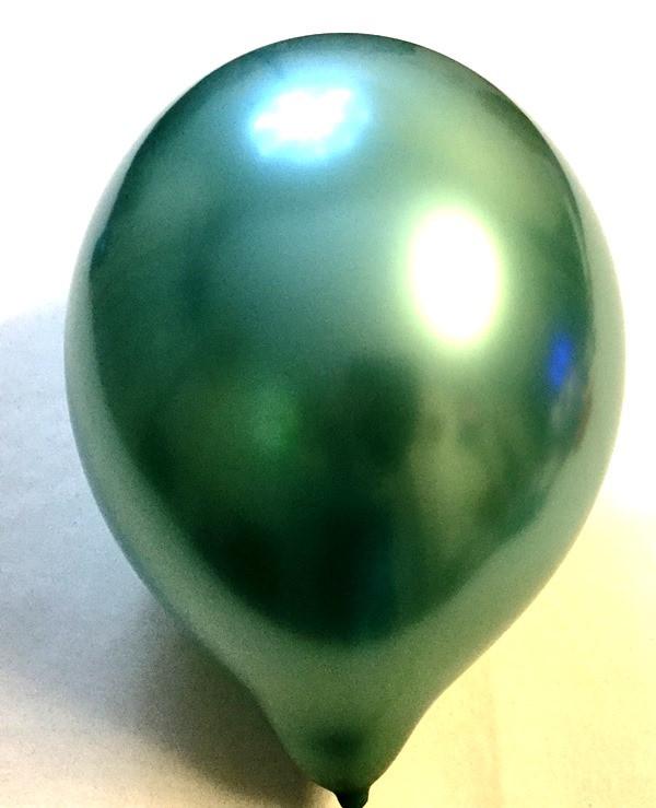 Воздушный шар хром зелёный 45 см