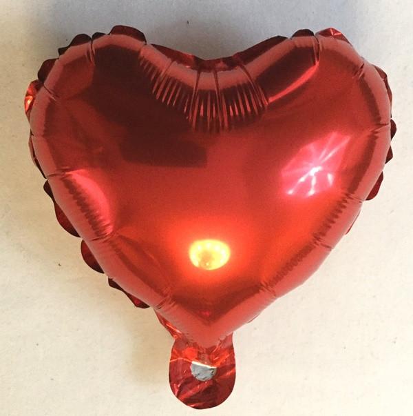 Фольгированный  шар в форме сердца красное 10″