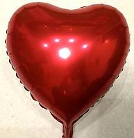 Шар воздушный «Сердце красное» 18″
