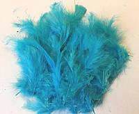 Перья голубые для воздушных шаров
