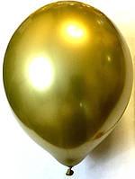 Воздушный шар хром золото 38 см