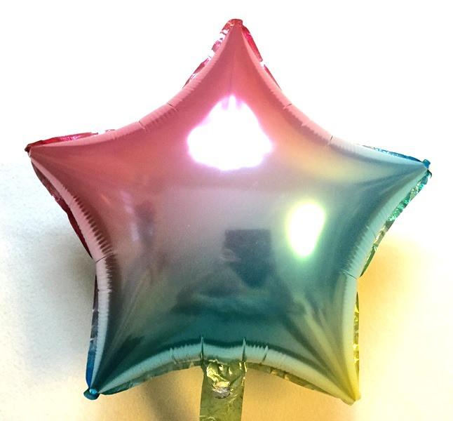 """Фольгированный шар в форме звезды """"Хамелеон"""""""