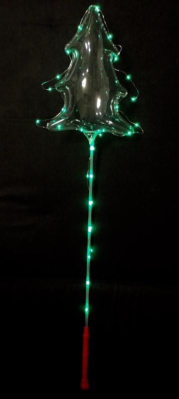 Комплект светящегося шарика Бобо в форме Ёлочки
