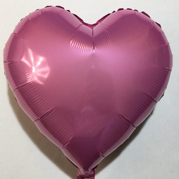 "Шар в форме сердца  сатин ""Розовое"""