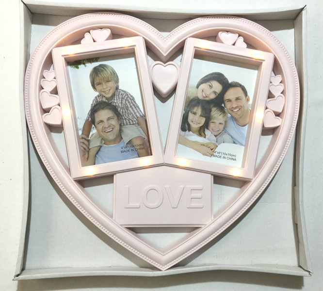 Коллаж Сердце с подсветкой на 2 фото Love (5382)