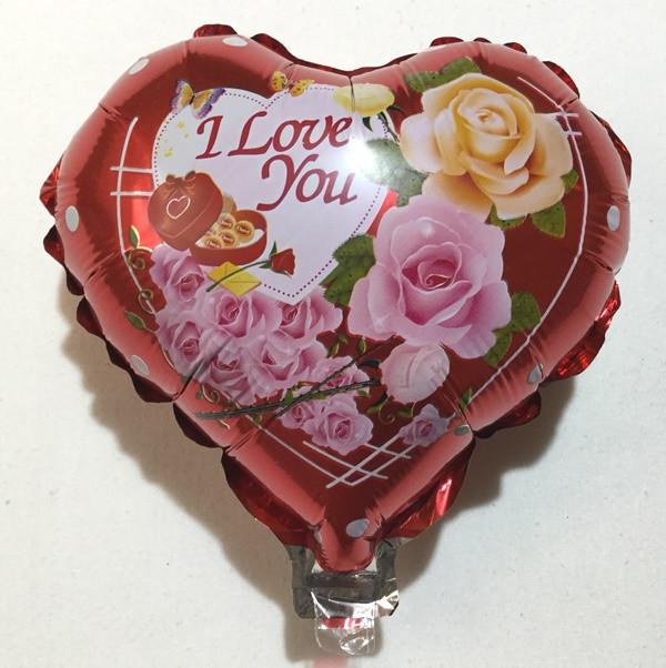 """Фольгированный шар маленький в форме сердца """"I Love you"""""""