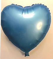 "Шар в форме сердца  сатин ""синий"""