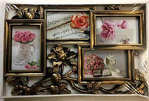 Коллаж на 4 фото Цветок (DTF-36)