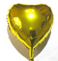 Сердце золотое воздушный шар в форме сердца