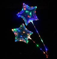 Комплект светящегося шарика Бобо в форме звезды