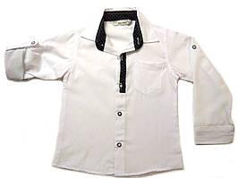 Рубашка белая для школы на мальчика 6-9 лет