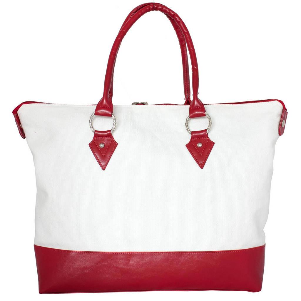 Cумка женская VALEX EL736-WT-RAD белая с красным