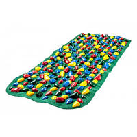 Коврик массажный с цветными камнями 100 х 40 см