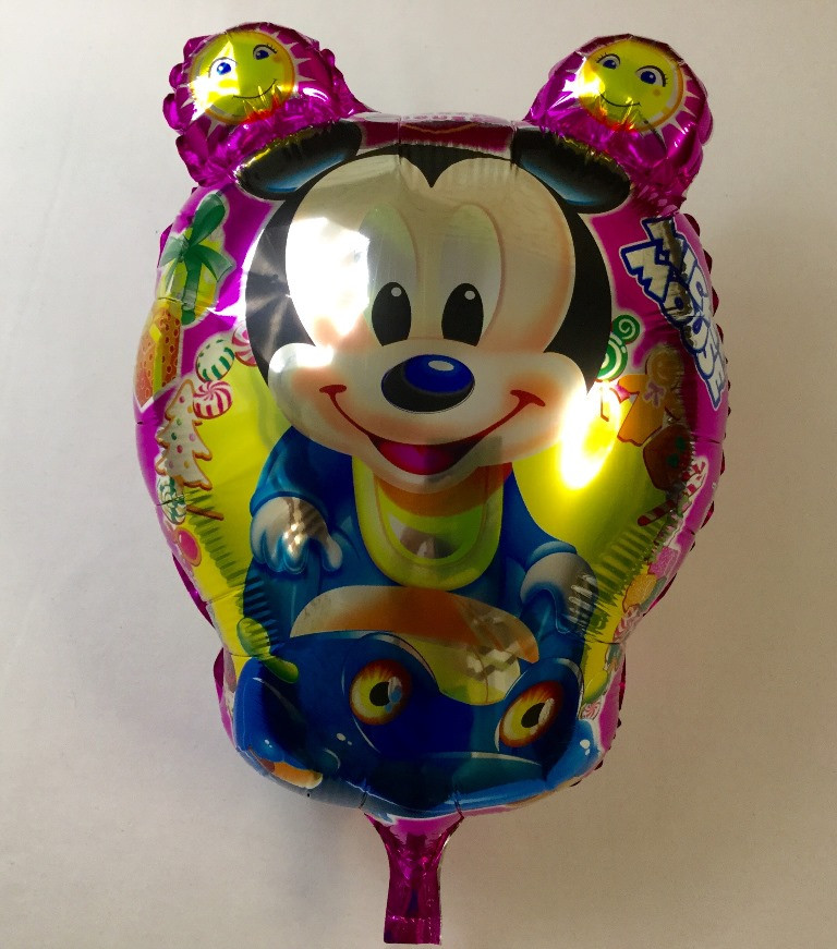 """Фольгированный шар  в форме овала""""Микки"""""""