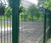 Забор секционный 3D, оцинкованный + ПВХ  покрытие