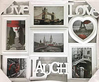 Мультирамка на 6 фото live love laugh(BH-3607)