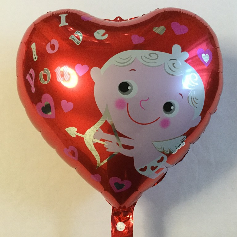 """Фольгированный шар в форме сердца """"Ангел"""" (YY-0027)"""
