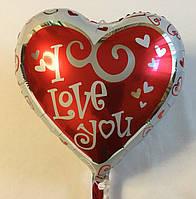 """Фольгированный шар в форме сердца """"I Love you"""" (YY-F0034"""