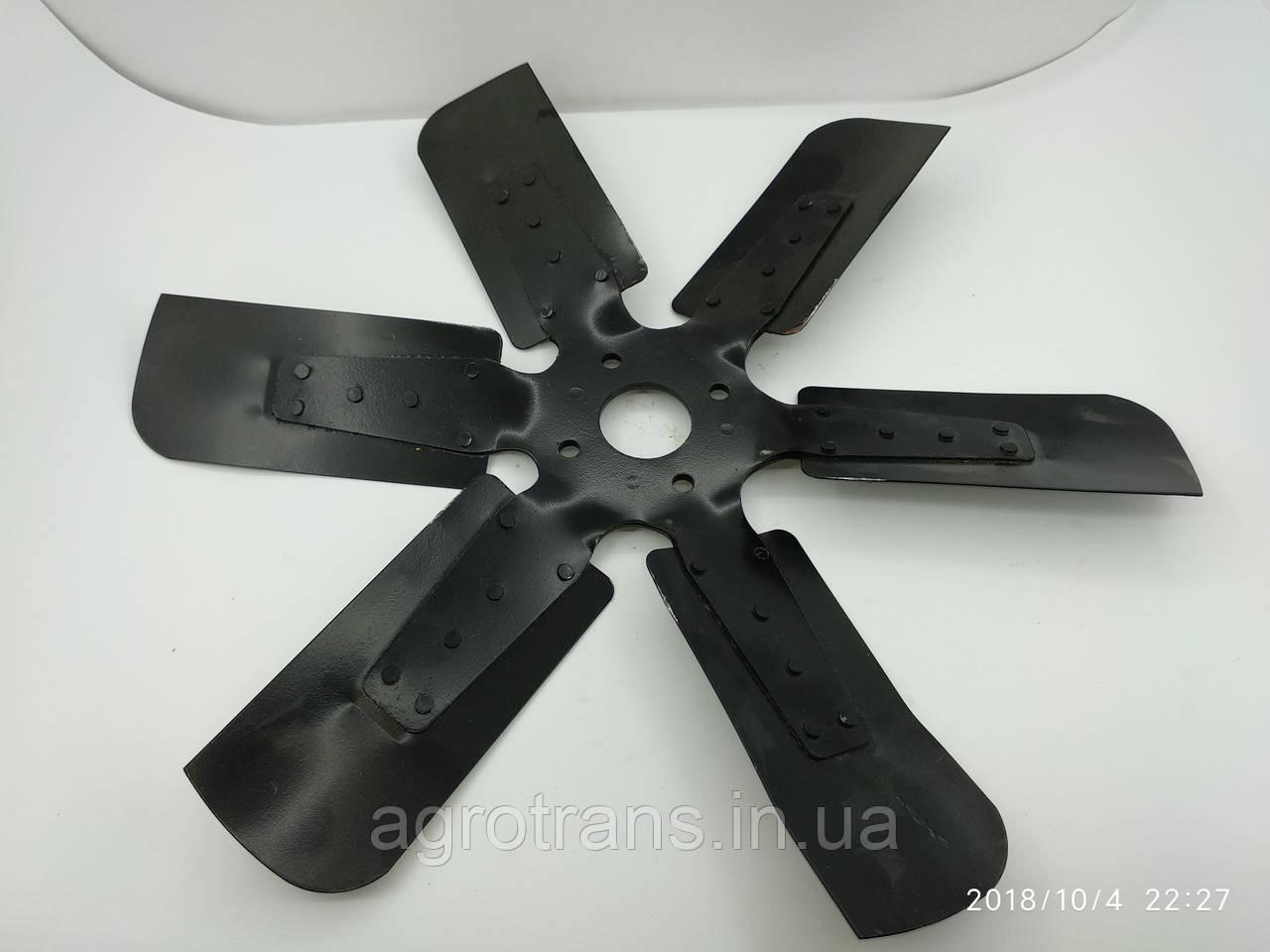 Крыльчатка вентилятора ЯМЗ-236, ЯМЗ-238 238Н-1308012 (металл, d=550 мм, 6 лопастей)
