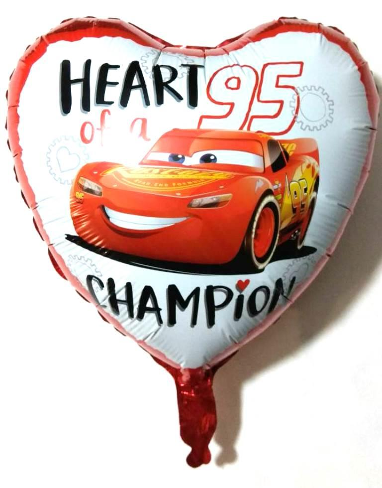 Фольгированный шар сердце Мак Квин