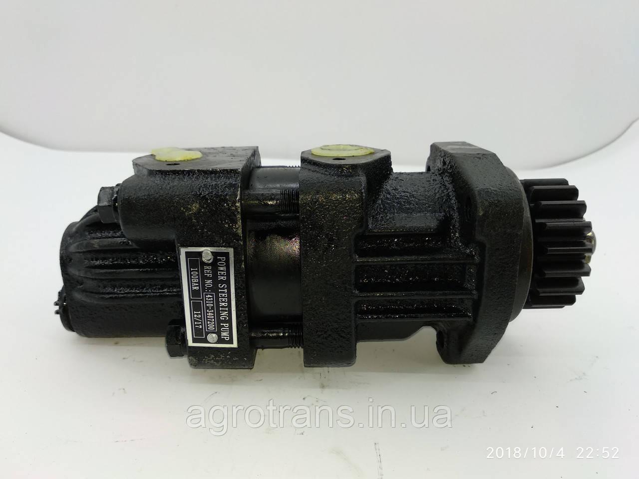 Насос гидроусилителя руля КАМАЗ 4310-3407200 без бачка. Насос гідропідсилювача керма без бачка КАМАЗ