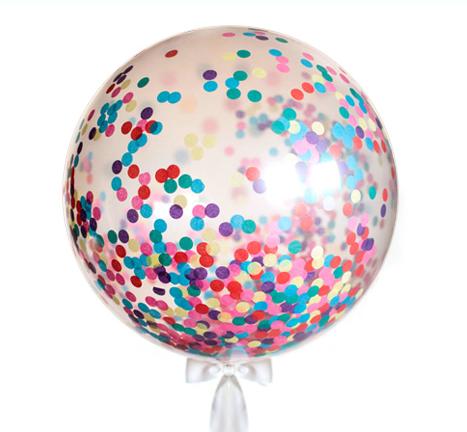 Воздушный прозрачный шар 75 см для наполнения блестками