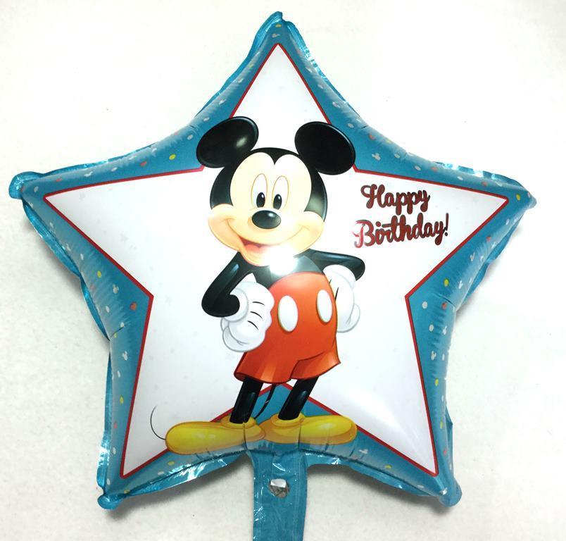 Фольгированный шарик звезда Мики