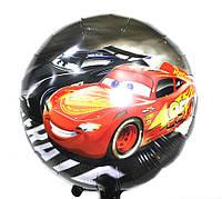 Фольгированный шарик круглый Новая Тачка чёрная (N104)
